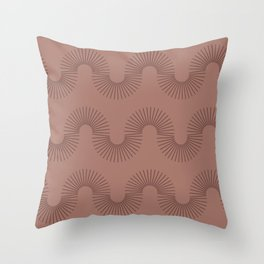 Shape and Color Study: Earth + Clay Throw Pillow