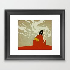 volcano -day version- Framed Art Print