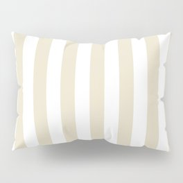 Narrow Vertical Stripes - White and Pearl Brown Pillow Sham