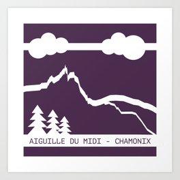 Aiguille du Midi Art Print