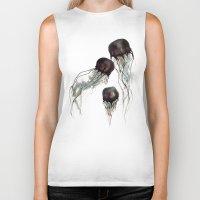 jellyfish Biker Tanks featuring Jellyfish by Hana Robinson