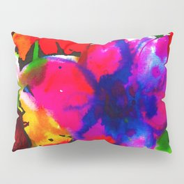 Inky Flowers Pillow Sham