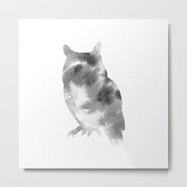 Hedwig + Gray Metal Print