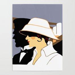 Retro naval marine style ad Southampton Poster