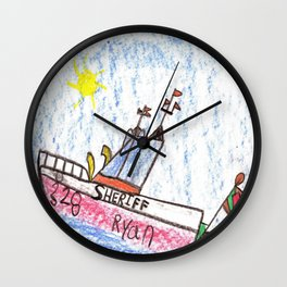 River Patrol Wall Clock