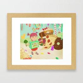 Healthy Lunch Framed Art Print