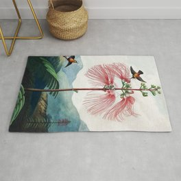 Large Flowering Sensitive Plant The Temple Of Flora Rug