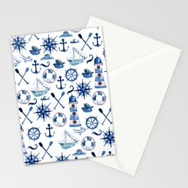 Nautical Watercolor Stationery Cards