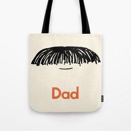 Dad Moustache Tote Bag
