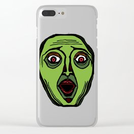 Fright Face (transparent) Clear iPhone Case