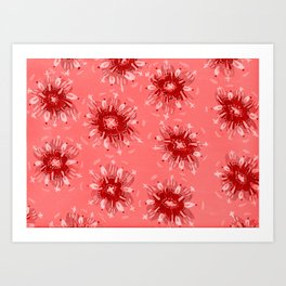Red Christie Rose Art Print