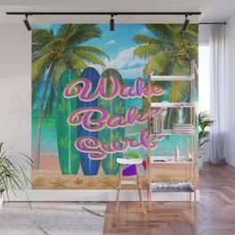 Wake Bake Surf! Wall Mural