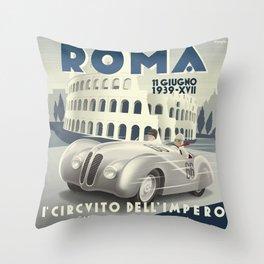 Roma Grand Prix Throw Pillow