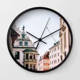 Streets of Munich Wall Clock
