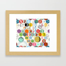 Math in color (white Background) Framed Art Print
