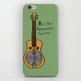 R is for Resonator Guitar iPhone Skin
