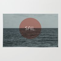 sail Area & Throw Rugs featuring Sail by Carla Talabá