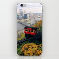 steelers iPhone & iPod Skins featuring An Autumn Day on the Duquesne Incline in Pittsburgh, Pennsylvania by Ed Lightcap
