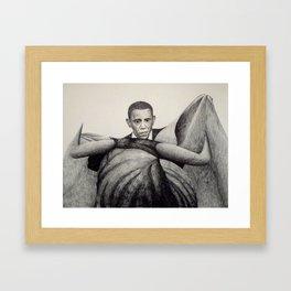 Obama y El Toro Framed Art Print