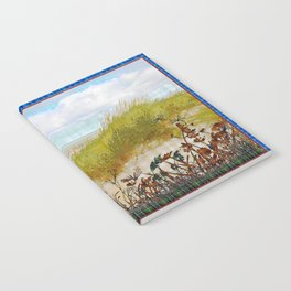 Plaid Beachscape with Dragonflies Notebook
