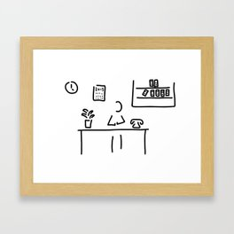 administration office Framed Art Print