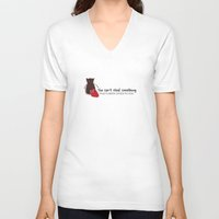 ouat V-neck T-shirts featuring Outlaw Queen Quote (OUAT) by CLM Design