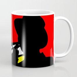 Jazz trombone player silhouette mondrian colors Coffee Mug