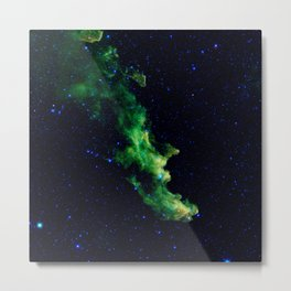 Galaxy: Green Witch's Head Nebula Metal Print
