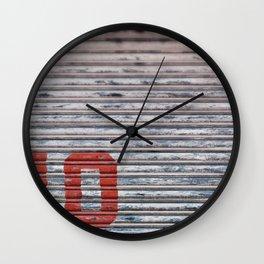 Minimalist Text Corrugated Metal No Parking Wall Clock