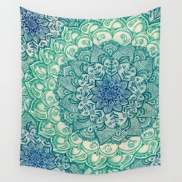 Emerald Doodle Wall Tapestry