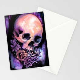Succulent Skull Stationery Cards