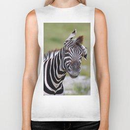 Shaking Zebra, Africa wildlife Biker Tank