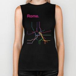 Rome Transit Map Biker Tank