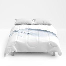 Bottlenose dolphin portrait Comforters