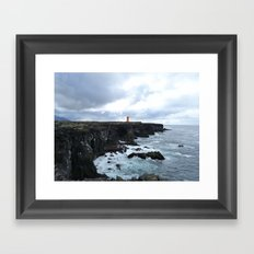 Lonely lighthouse Framed Art Print