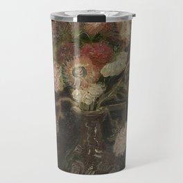Vase with Chinese Asters and Gladioli Travel Mug