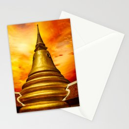 Thai Temple Sunset Stationery Cards