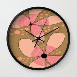 FLOWERY FLORA / ORIGINAL DANISH DESIGN bykazandholly Wall Clock