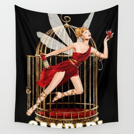Vintage Bitter Campari Fairy Lithograph Advertisement Wall Tapestry