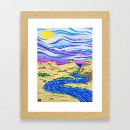Columbia River Framed Art Print