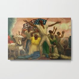 "African American Classical Masterpiece ""Emancipation"" by John Steuart Curry Metal Print"