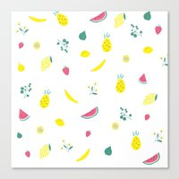 fruits Canvas Prints featuring Fruits by haroulita
