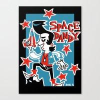 space dandy Canvas Prints featuring Retro Space Dandy by ZoeStanleyArts