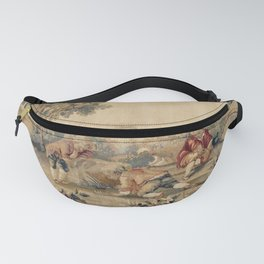Aubusson  Antique French Tapestry Print Fanny Pack
