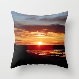Ground Level Sunset Throw Pillow