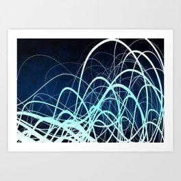 Blue Movement2 Art Print