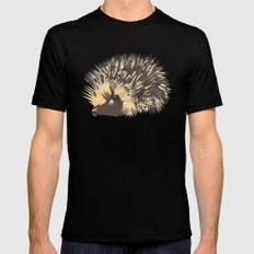 Little Hedgehog Mens Fitted Tee Black MEDIUM