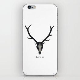 deer skull, born to die iPhone Skin