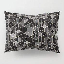 Black geometry / hexagon pattern Pillow Sham
