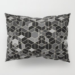 Black geometry / hexagon pattern Pillow Sham